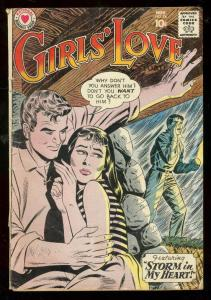 GIRLS LOVE STORIES #74 1960-STORMY ROMANCE COVER-RARE VG
