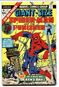 GIANT-SIZE SPIDER-MAN #4 comic book 1975 Marvel PUNISHER VG