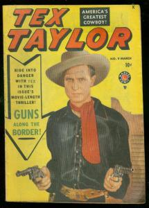 TEX TAYLOR #9 1950-MARVEL COMICS WESTERN-PHOTO COVER- FN-