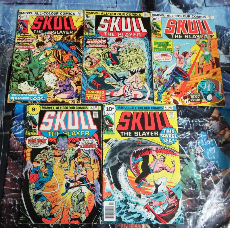 BRITISH MARVELSkull The Slayer Collection!5 books!Issues2-6!G-VG!sci-fi fantasy