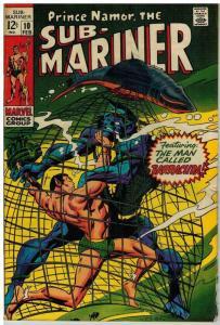 SUB MARINER 10 VG+ Feb. 1969 COMICS BOOK