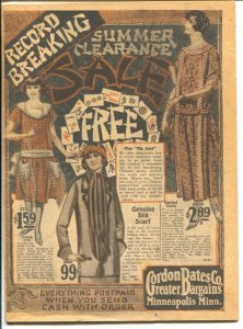 Gordon Bates Co. Summer Clearance Catalog 1900's-fashions-shoes-lingerie-hist...