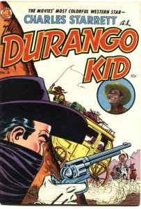 DURANGO KID #6-1950-CHARLES STARRETT MOVIE SERIES-FRANK FRAZETTA ART---ME