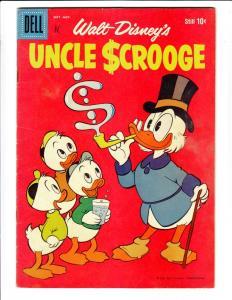 Uncle Scrooge, Walt Disney #27 (Sep-59) FN Mid-Grade Uncle Scrooge