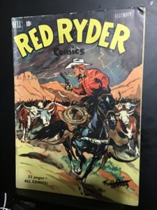Red Ryder #89 (1950) Mid-Grade Red Ryder cattle Drive cover key!  FN Wow!