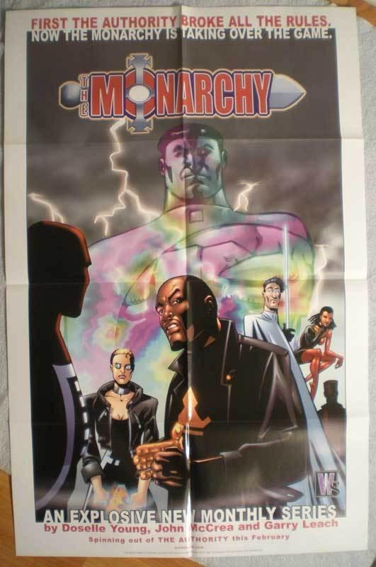 MONARCHY Promo poster, 22 x 34, 2001, Unused, more in our store