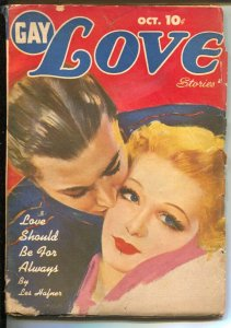 Gay Love Stories 10/1944-Columbia-pulp fun-pin-up girl cover-VG