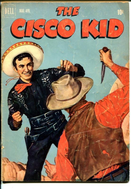 Cisco Kid 8 1952 Dell Painted Cover Bob Jenny Art VG