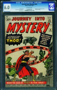 JOURNEY INTO MYSTERY #83 CGC 6.0-1st THOR Jack Kirby 0169887003