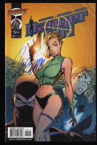 Danger Girl #5 NM+ 9.6 J. Scott Campbell Autograph Signed!
