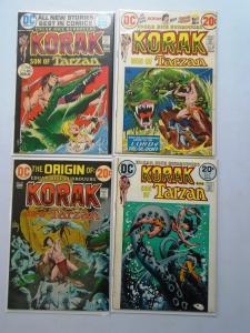 Korak Son of Tarzan Lot 7 Differents  average 8.0/VF (1972-75)