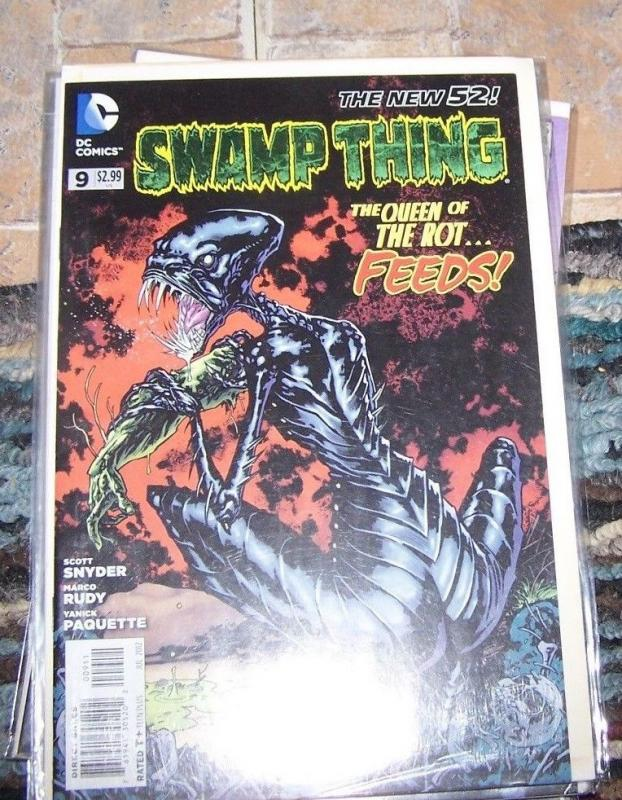 Swamp Thing comic  #9 2012 new 52 DC queen of rot  scott snyder