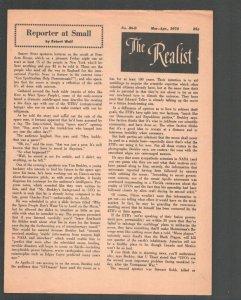 Realist #86-B 3/1970-Paul Krassner Counter culture mag-Underground comix type-G