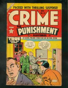 CRIME AND PUNISHMENT #57 1952-CHARLES BIRO-MOTORCYCLE   VG
