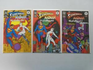 Superman Madman Hullabaloo set #1-3 8.0/VF (1997)