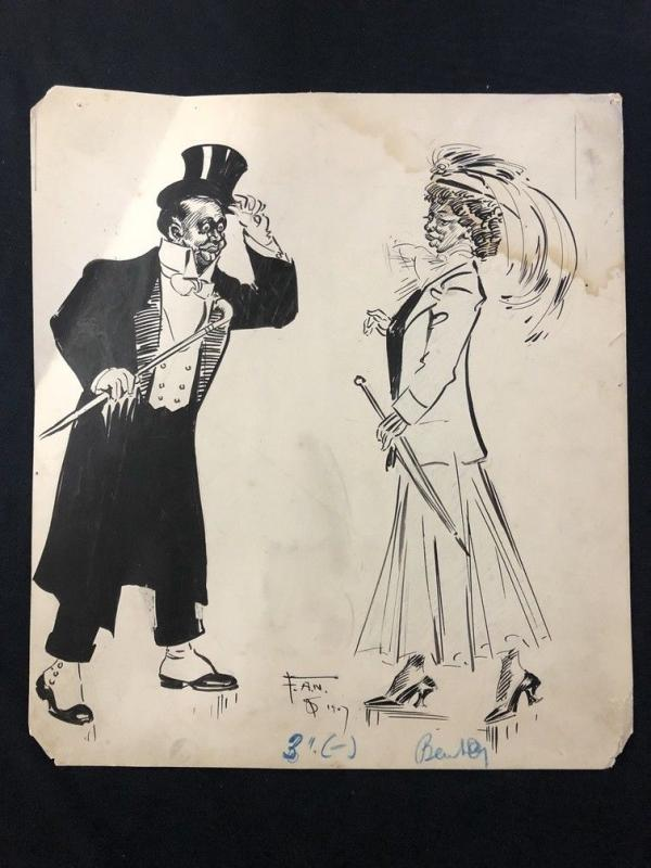 Puck Magazine Original Art September 26 1907- Frank A Nankivell