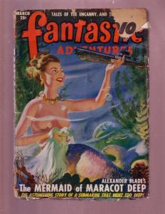 FANTASTIC ADVENTURES-MAR1949-MERMAID COVER-RARE SF PULP G