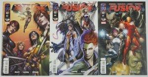 Fusion #1-3 VF/NM complete series - avengers - abnett & lanning - thunderbolts