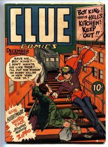 Clue Comics #6-1943 Hillman Golden-Age Boy King-Mugsey-Zippo