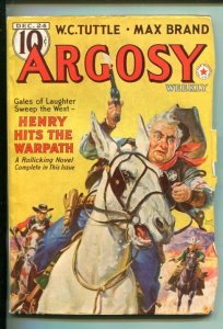 ARGOSY-12/24/1938-RED CIRCLE-W.C. TUTTLE-MAX BRAND-DR KILDARE-vf