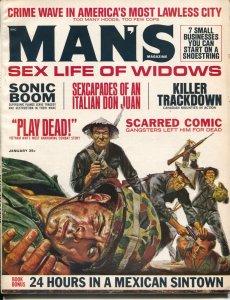Man's Magazine 1/1968-Viet Cong Fight-cheesecake-RCMP-Al Capone-VG+