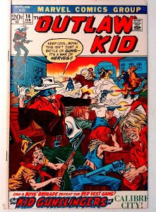 Outlaw Kid #14 Marvel 1973 FN- Bronze Age Comic Book 1st Print
