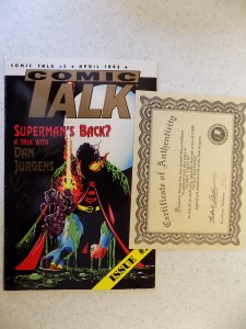 COMIC TALK # 2 SPECIAL GOLD EDITION 1 OF 2000 SIGNED BY DAN JURGENS
