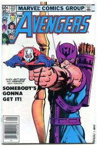 Avengers #223 comic book 1982  Civil War movie issue- Hawkeye- Ant Man vg/f