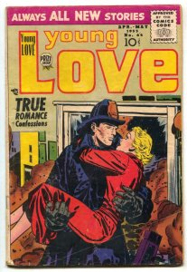 Young Love #64 1955- Romance- Fireman cover VG
