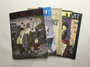 Comic Art 1-5 Magazine Lot Near Mint Nm Comic Art Magazine