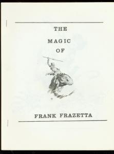 MAGIC OF FRANK FRAZETTA #2 FANZINE-MONSTER WITH SPEAR VF