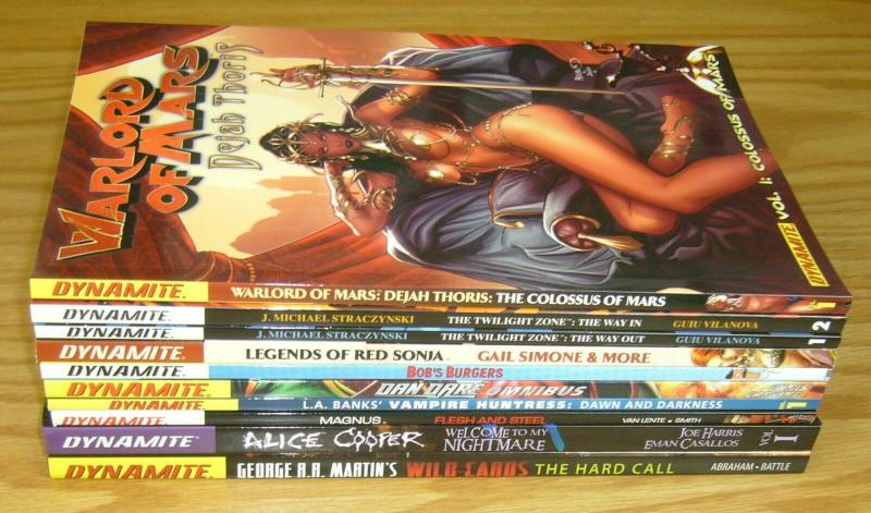 Lot of (10) Dynamite TPBs/HCs - alice cooper - twilight zone - (value: $191)