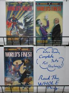 WORLDS FINEST (1990) 1-3  STEVE RUDE!  JOKER!  BATMAN!