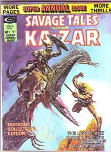 Savage Tales Annual #1 (Jul-75) VF/NM- High-Grade Ka-Zar