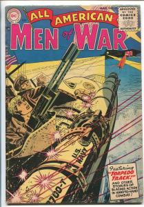 ALL AMERICAN MEN OF WAR #19-1955-WWII-DC-SILVER AGE-TORPEDO ATTACK COVER-vg-