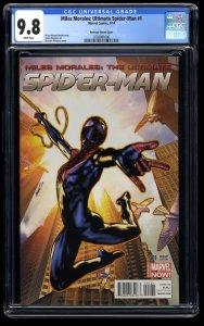 Miles Morales: Ultimate Spider-Man #1 CGC NM/M 9.8 1:25 Peterson Variant