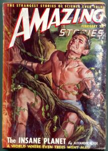 Amazing Stories Pulp February 1949- Insane Planet- Science Fiction