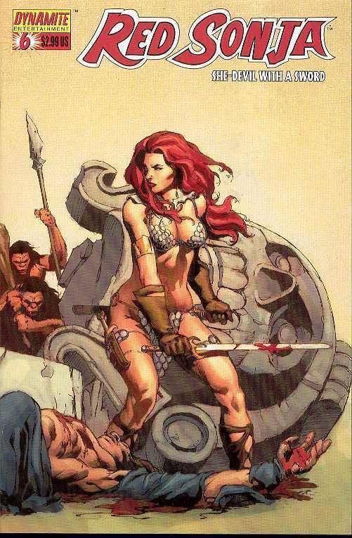 Red Sonja #6 (Dynamite) - Mel Rubi 'Relentless' Wraparound Cover