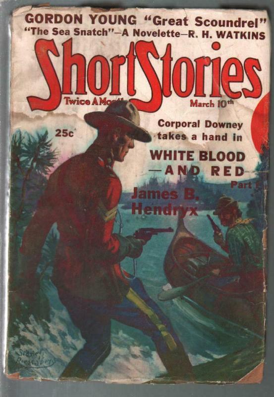 Short Stories 3/10/1938-Doubleday-Canadian Mountie-RCMP-pulp thrills-FR