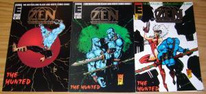 Zen Intergalactic Ninja: the Hunted #1-3 VF/NM complete series BILL MAUS entity