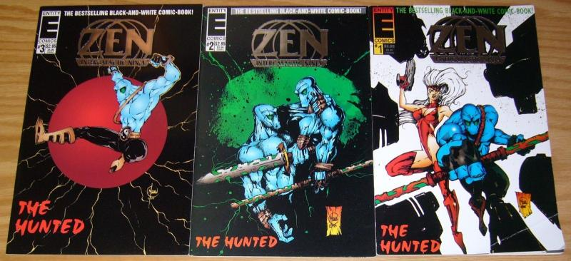 Zen Intergalactic Ninja: the Hunted #1-3 VF/NM complete series BILL MAUS entity