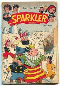 Sparkler Comics #63 1947- Tarzan- Golden Age F/G