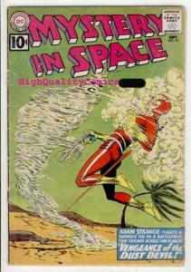 MYSTERY IN SPACE #70, GD+, Adam Strange, Dust Devils, 1961, Carmine Infantino
