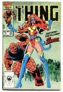 THE THING #35 1986 1st appearance new Ms. Marvel