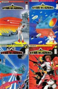 STAR BLAZERS (1987 C) 1-4 complete manga sci-fi series! COMICS BOOK