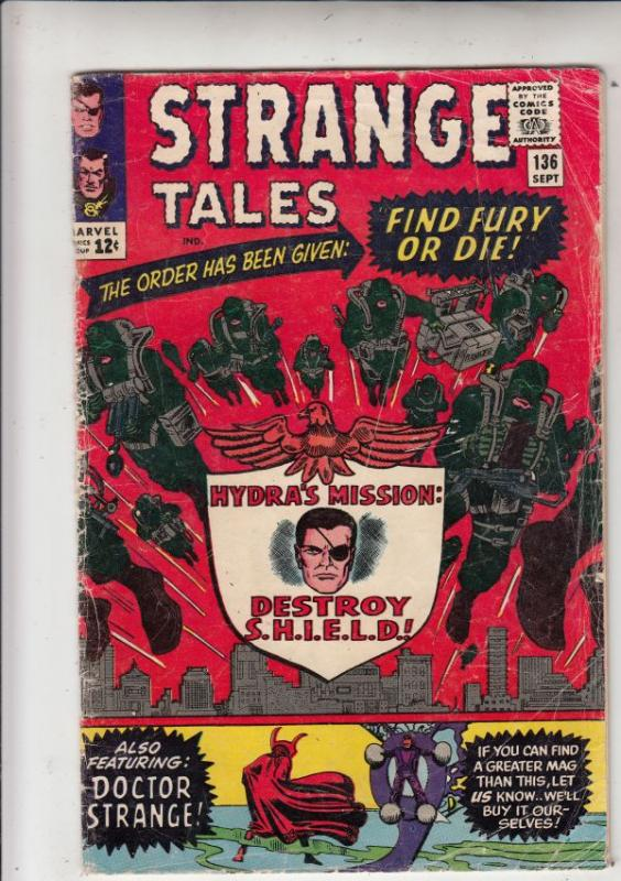Strange Tales #136 (Sep-65) GD/VG Affordable-Grade Nick Fury, S.H.I.E.L.D., D...