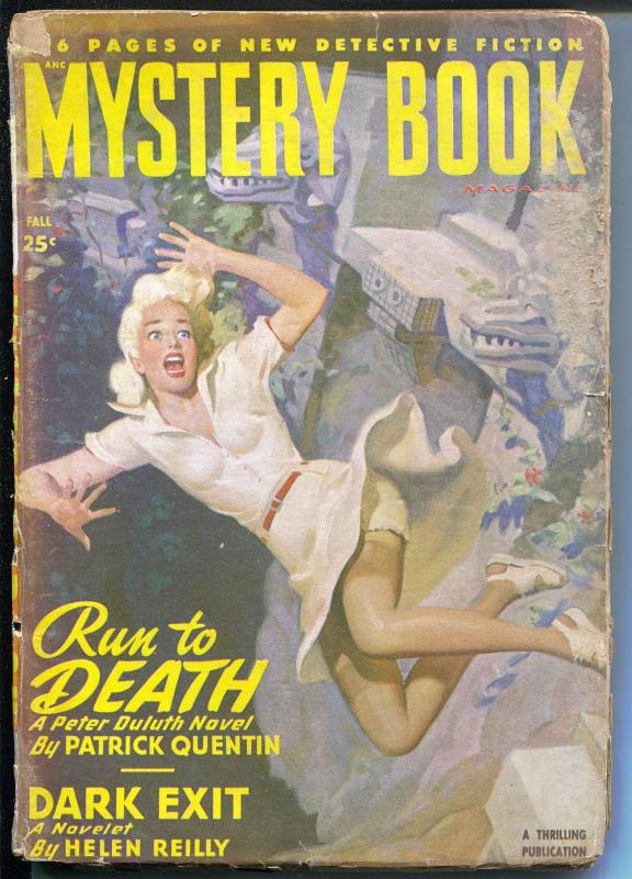 Mystery Book-Fall  1948-Thrilling-Mayan Temple-Fredric Brown-blonde babe-VG-
