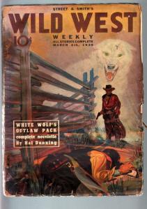 WILD WEST WEEKLY 3/4/1939-WESTERN PULP-WHITE WOLF G
