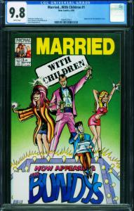 Married With Children #1 CGC 9.8 1990-First issue-NOW Pubs 1994557011