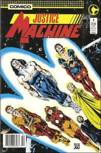 Comico JUSTICE MACHINE (1987 Series) #2 FN-